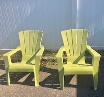 2 lime Patio Chairs
