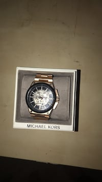 Round silver michael kors chronograph watch with link bracelet Dallas, 30157