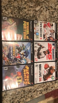six assorted Xbox 360 game cases Louisville, 40241