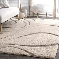 Brand NEW NuLOOM Shag 5.3 feet by 7.6 feet. Cream and Beige colour  Halton Hills, L7G 0B1