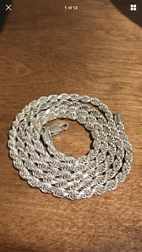 .925 Italy Sterling Silver Diamond Cut Nickle Free Rope Necklace 5 MM 30 Inches London, N6G 2Y8