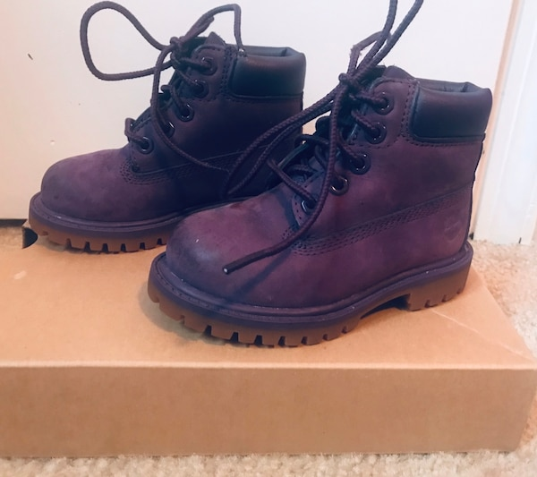 42d772597df4 Used Purple timberlands 6T for sale in Blackwood - letgo
