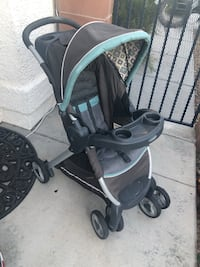 Baby's black and gray tandem Stroller Las Vegas, 89108