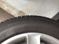 Four Michelin (Winter) Tires with Rims/Wheels (235/55R17) Burnaby, V5E 1E4