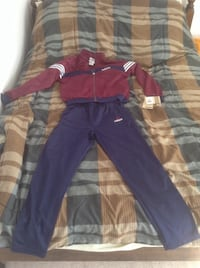 Adidas youth kid purple and blue zip-up jacket and pants together. Vancouver, V6A 1R5