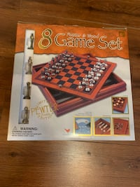 Pewter & Wood 8 Game Set