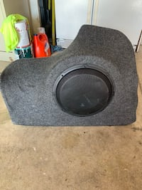 Custom speaker box for Camry