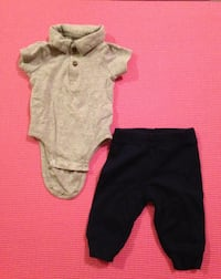 Infant Onesie+Pants - gently used 0-3 months