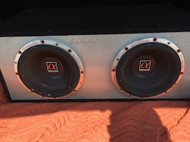 Dual 10 inch subwoofer box. Ported.
