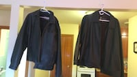 Two dark brown leather jackets both large size great shape either $70 for both or $35 individual