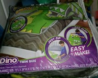 Twin size zippy sack dino- as seen on tv