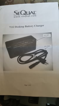 Sequal battery charger with batteries