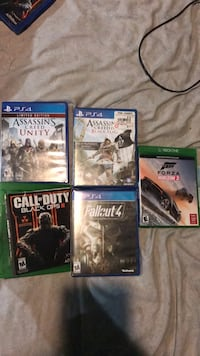 5 assorted games PS4/xbox one  Annandale, 22003