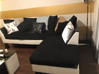 Black and white sectional couch