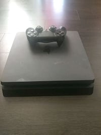 black Sony PS4  slim console with controller Denver, 80239