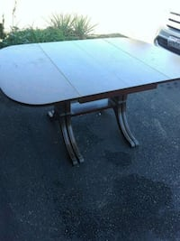 weekend special. antique folding down table and chairs. 130.00