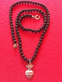 Authentic onyx and silver by famous designer