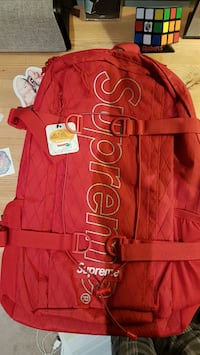 Red Supreme Backpack Whitby, L1M 1E6