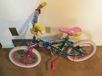 toddler's blue and pink floral bicycle