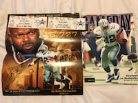 Emmitt Smith's Autograph and game tickets and game program from rushing record game McKinney, 75070