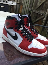 Pair of red-and-white air jordan 1 Gaithersburg, 20886