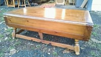 brown wooden 2-drawer table 144 mi