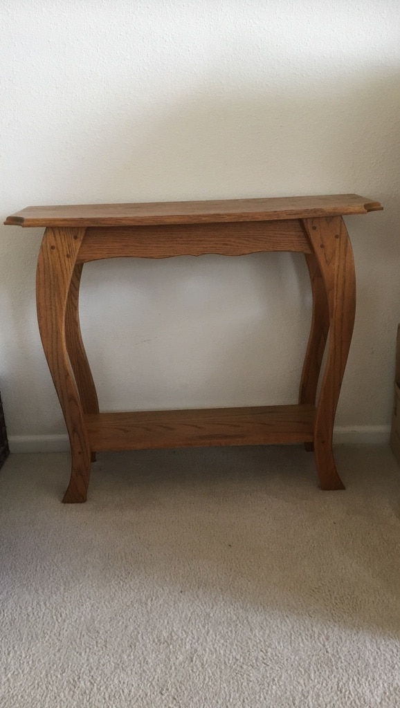 Letgo brown wooden side table in centennial co for 12 wide side table
