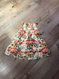 Rouged floral skirt/ dress
