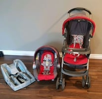 Graco travel system.stroller+car seat with base