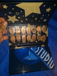 Flat penny coin collection