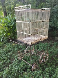 vintage bird cage and cart Clover, 29710