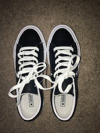 Kids size 4.5 black and white converse. Brand new condition, never worn. Tag still attached   Lacey, 98516