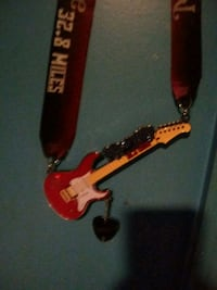 red and black electric guitar necklece Washington, 20018
