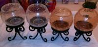 4 candle holders with stand