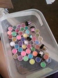 assorted color plastic container lot