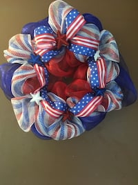 Red, white and blue wreath  Machesney Park, 61115