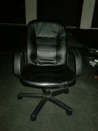black leather office rolling chair North Las Vegas, 89081