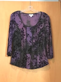 women's black and purple floral blouse Raynham, 02767