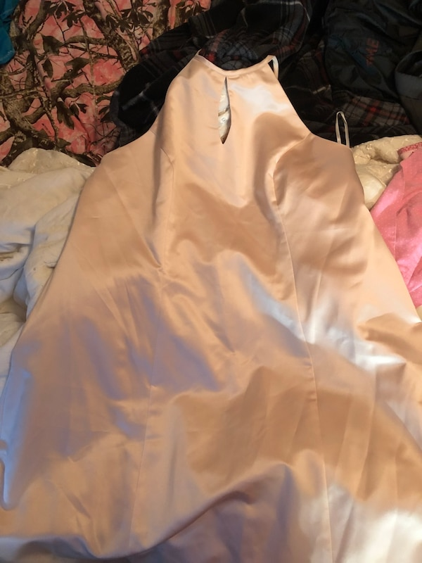 Cream color satin plus size dress