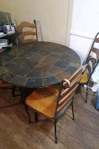 Cobblestone table and 4 chairs