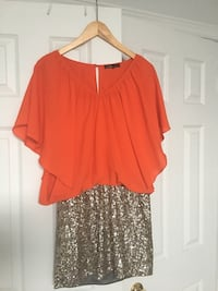 Mendocino Orange Sequin Dress East Gwillimbury, L0G 1R0