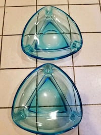 Vintage blue glass ashtrays Woodbridge, 22192