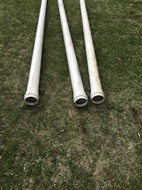 PVC pipes approximately four or 5 inch diameter by about 18