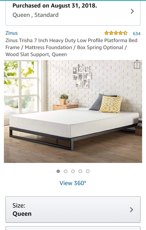 Queen Bed Frame, In Excellent Condition, Had For 4 Months Hardly Used