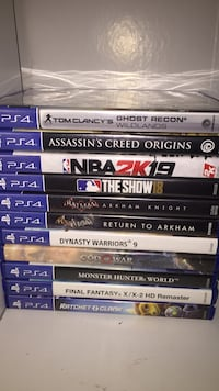 assorted PS4 game case lot Virginia Beach, 23452