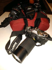 Canon AE 1 kit with 3 lense, flash, strap and case Fairmont, 26554