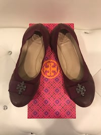 Tory Burch flats - plum color size 8 - used Ashburn, 20147