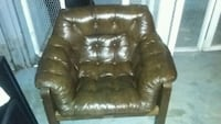 brown leather tufted sofa chair Annandale, 22003