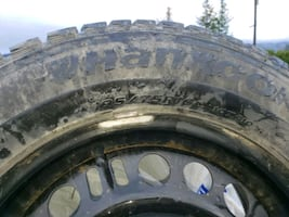 snow tires 195 75 R16 on rims 5 bolt Chevy pattern