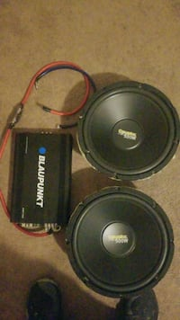 2 12in subs and 1500watt amp 2/3/4 channel amp  1972 mi